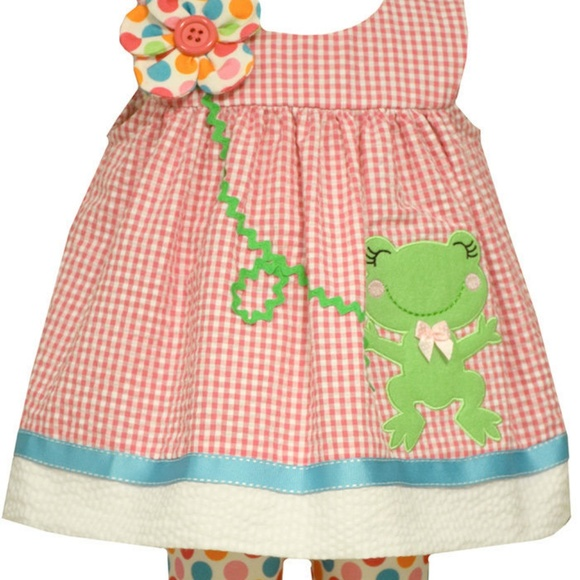 New Girls Toddler Bonnie Jean EASTER Bunny Tunic Capri Set Outfit SZ 3T 4T